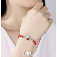 Load image into Gallery viewer, Chinese New Year Red Rope Rat Zodiac Silver Bracelet