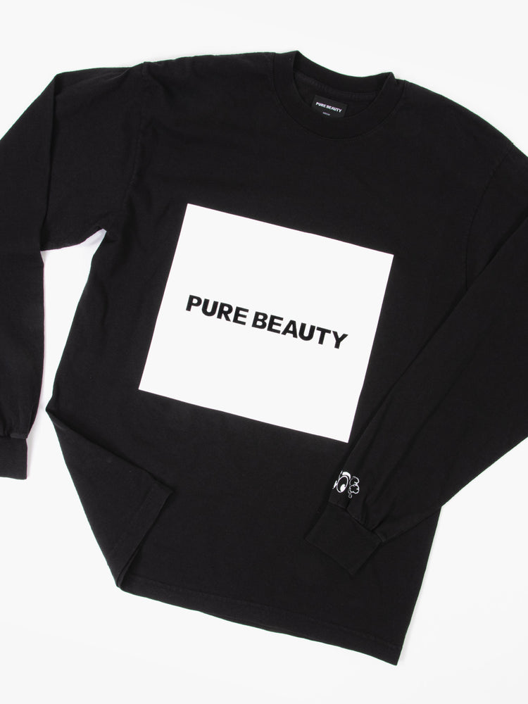PB BLACK L/S BOX LOGO T-SHIRT