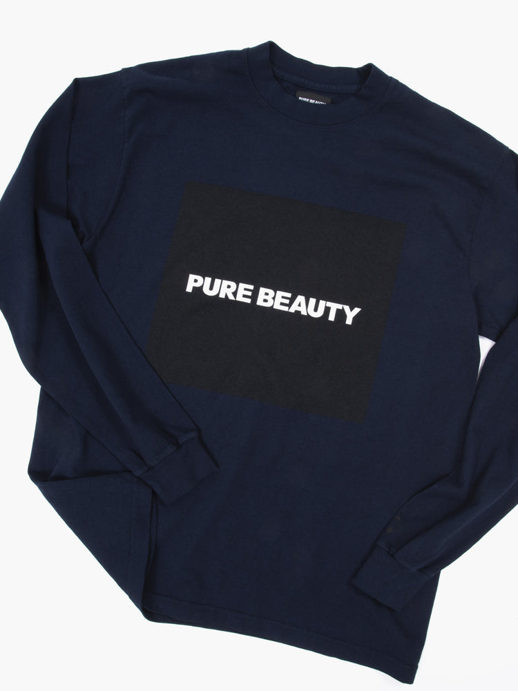 PB NAVY L/S BOX LOGO T-SHIRT