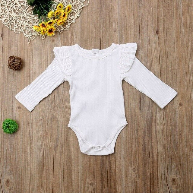 Newborn Kids Baby Girl Boy Long Sleeve Bodysuit Romper Jumpsuit Clothes Outfits