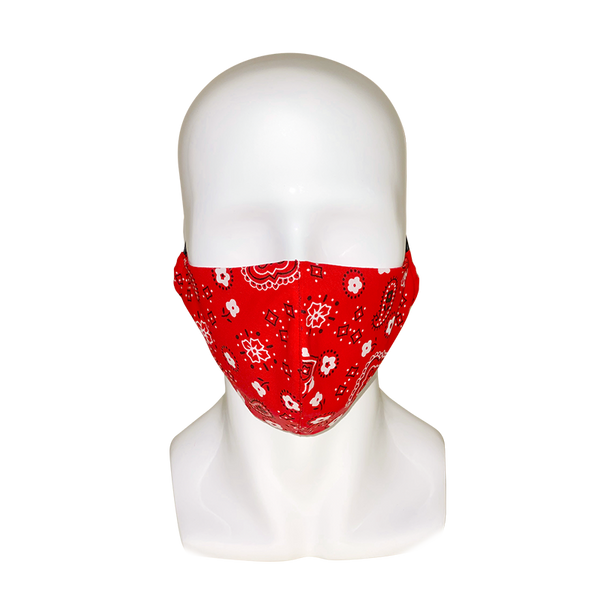 Men's Bandana Print Face Mask