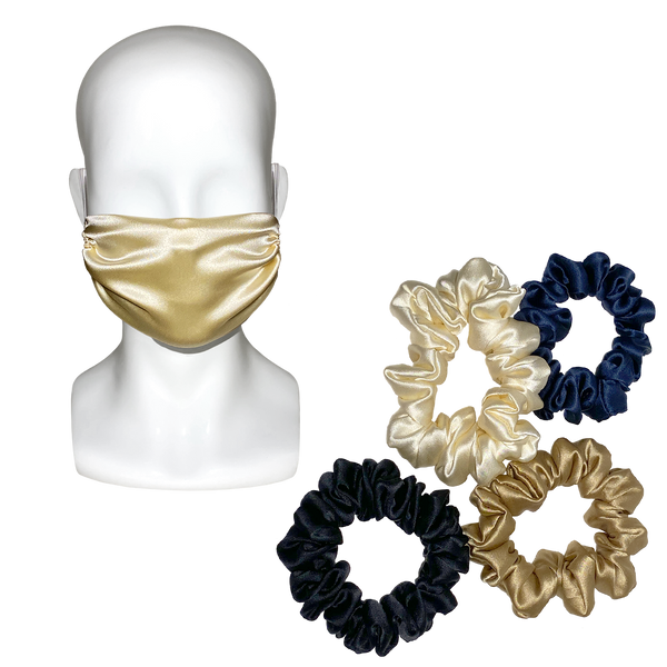 100% Silk Mask + Scrunchie Set