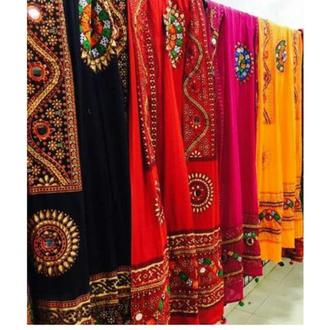 Premium Kutch Dupatta with hand thread  & Mirror work