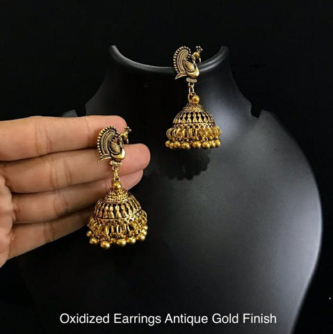 Antique Oxidized Earring Jumkha