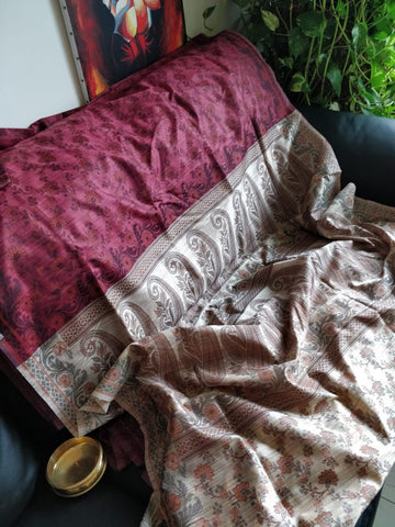 Himroo silk Saree with Govt Silk with blouse