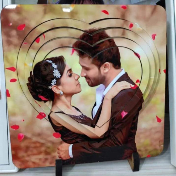 3D Heart Photo Frame