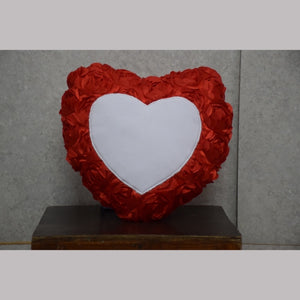 Personlised Heart Shapped Rose Petal Cushion