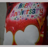 Personlised Happy Anniversary Cushion