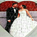 Personlised Heart Shapped Photo Puzzle