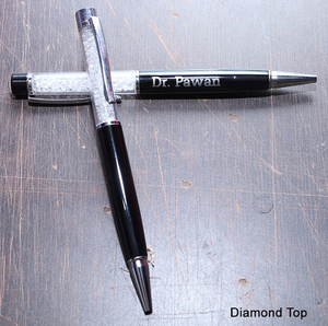 Personlised Diamond Top Pen
