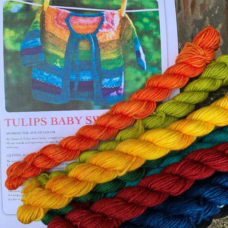 Tulip Baby Sweater Kit in kit | String Theory Yarn Co