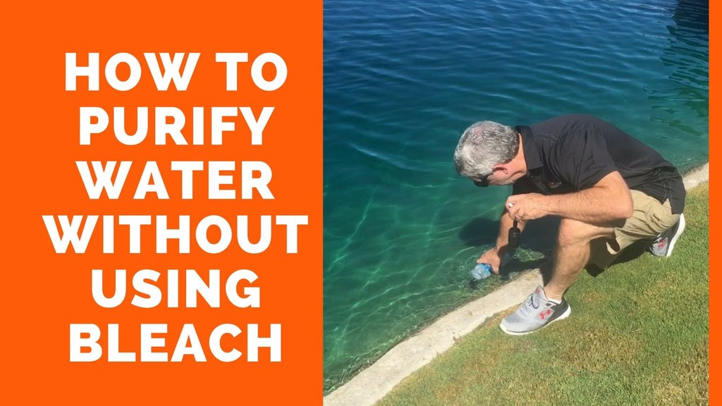 How to purify questionable drinking water – without using bleach