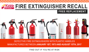 Kidde Fire Extinguisher Recall and Free Replacement