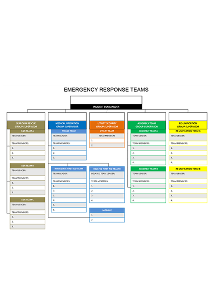 Emergency Response Team Chart