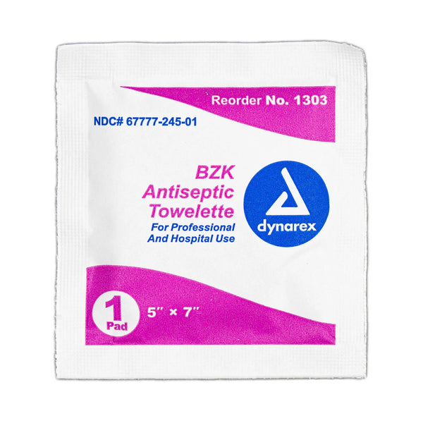 Antiseptic BZK Wipes (Single)