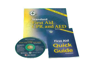 CPR and First Aid Book with DVD rik87a