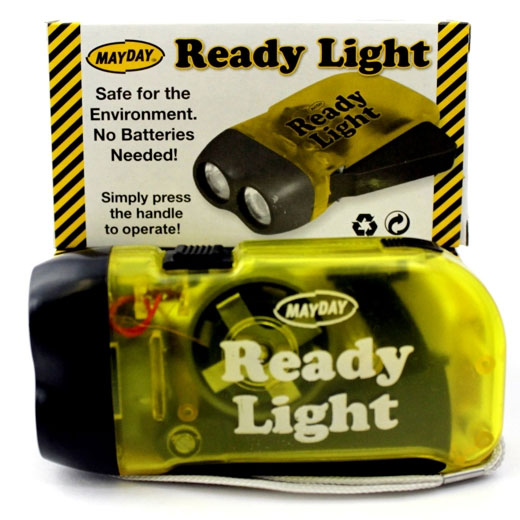 Flashlight hand crank easanj