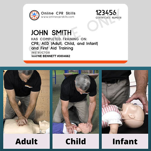 CPR, AED and First Aid - Online Training