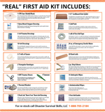 The Real Life-Saving First Aid Kit ( All-Purpose | Home | Office | School | Car)