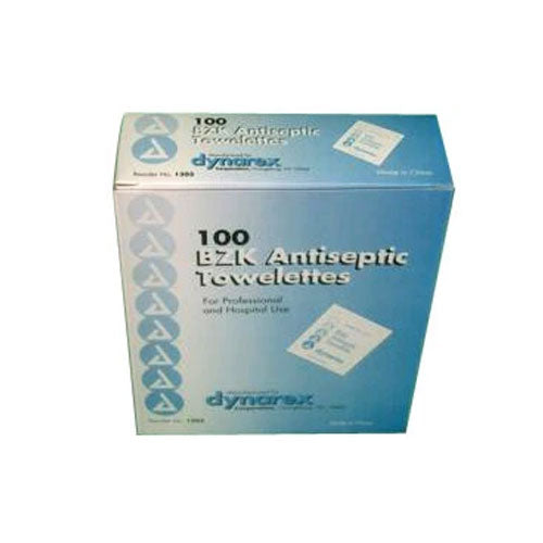 Antiseptic BZK Wipes (Box of 100)