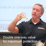 double one way valve cpr shield vhu0am