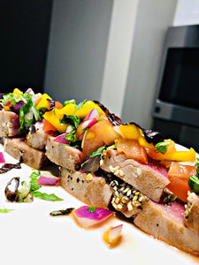 "That ""New New"" Pan Seared Tuna with Mango Salsa"