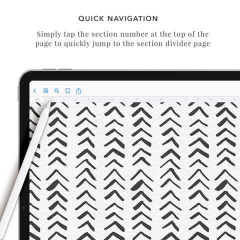 24 Section Landscape Digital Notebook
