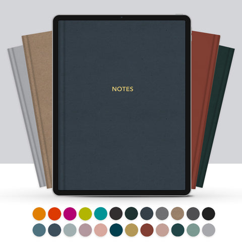 Set of 24 Digital Notebook Covers