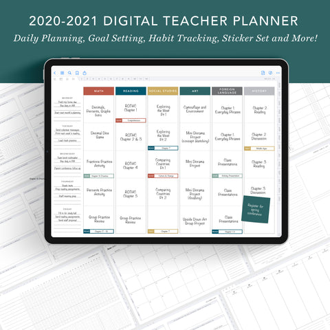 Digital Teacher Planner | July 2020 to June 2021