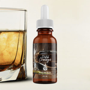 bourbon scented beard oil for men