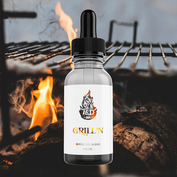 bbq scented beard oil for men