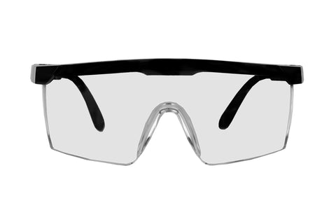 Safety Glasses (Black) - 2 pairs per pack