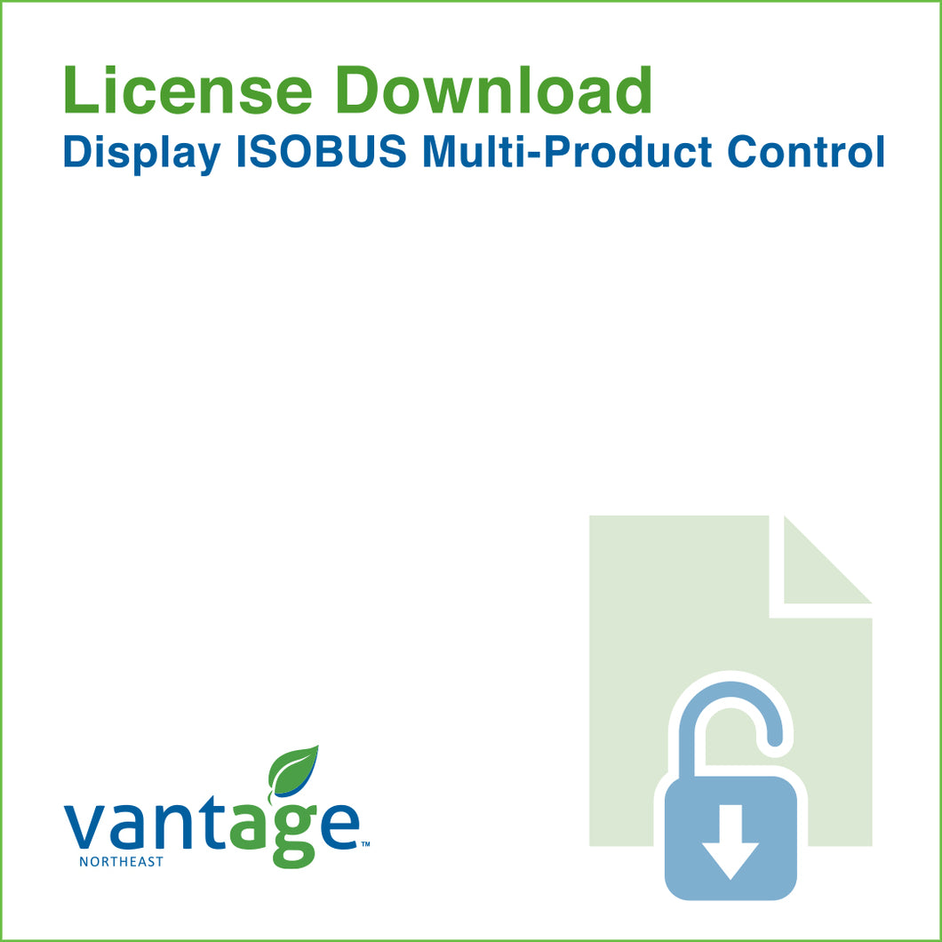 Vantage-Northeast_License-Display-ISOBUS-Multi-Product-Control