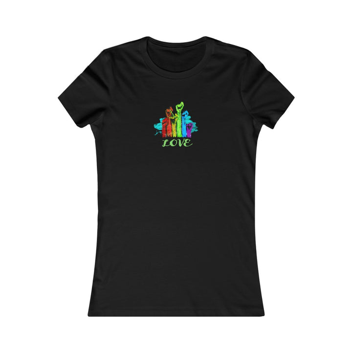 LOVE | Women's Favorite Tee - artrockscharity | Equality Clothing Wear Your Voice | Art Beat Live