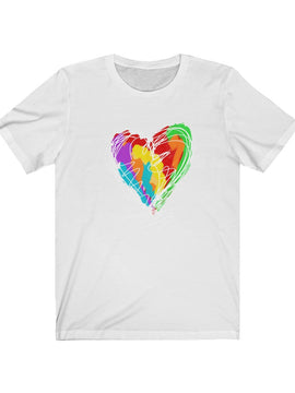 Heart Scribble Unisex Short Sleeve Tee