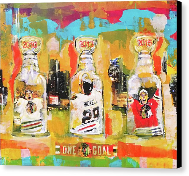 3 Stanley Cups - Canvas Print - artrockscharity | Equality Clothing Wear Your Voice | Art Beat Live