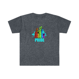 PRIDE | Men's Fitted Short Sleeve Tee - artrockscharity | Equality Clothing Wear Your Voice | Art Beat Live