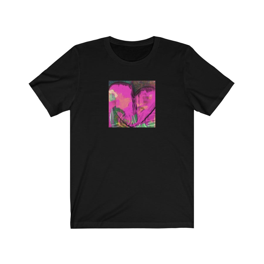 Limited Edition Heart T-Shirt | Magenta Heart - artrockscharity | Equality Clothing Wear Your Voice | Art Beat Live