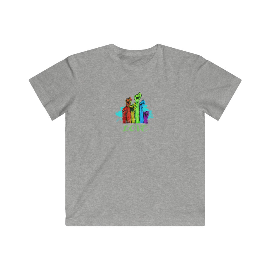 LOVE | Kids Fine Jersey Tee 2YR—12YR - artrockscharity | Equality Clothing Wear Your Voice | Art Beat Live