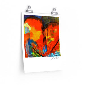 Red Heart Poster 11x14 - artrockscharity | Equality Clothing Wear Your Voice | Art Beat Live