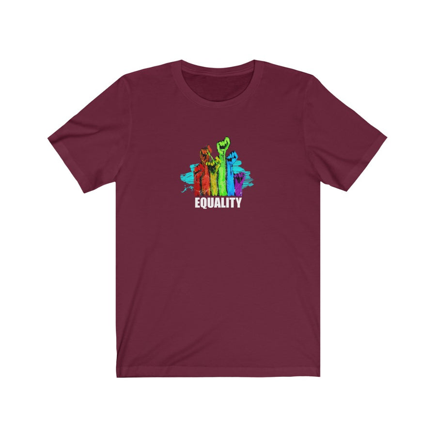 EQUALITY | Unisex Jersey Short Sleeve Tee - artrockscharity | Equality Clothing Wear Your Voice | Art Beat Live