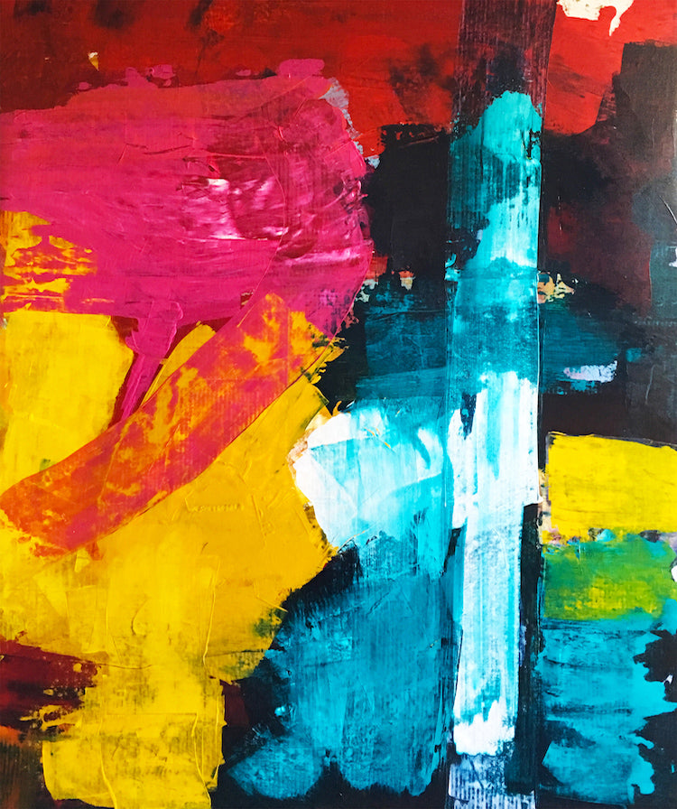 Large Scale Abstract Painting 2 - artrockscharity | Equality Clothing Wear Your Voice | Art Beat Live
