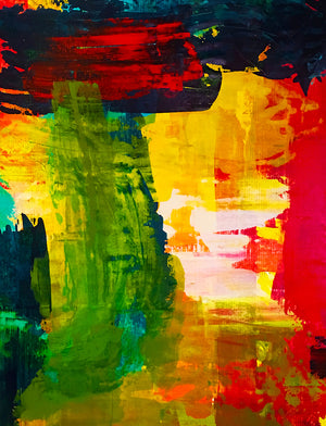 Large Scale Abstract Painting 7 - artrockscharity | Equality Clothing Wear Your Voice | Art Beat Live