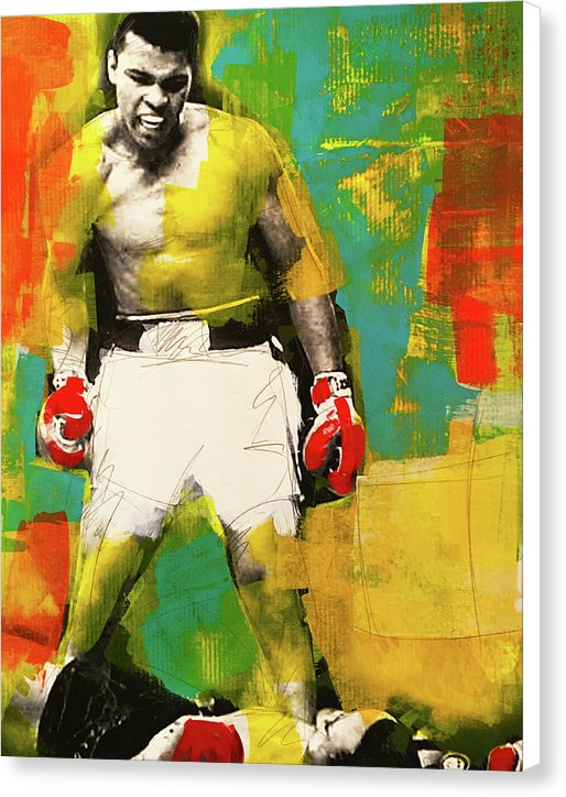 Ali The Greatest - Canvas Print - artrockscharity | Equality Clothing Wear Your Voice | Art Beat Live