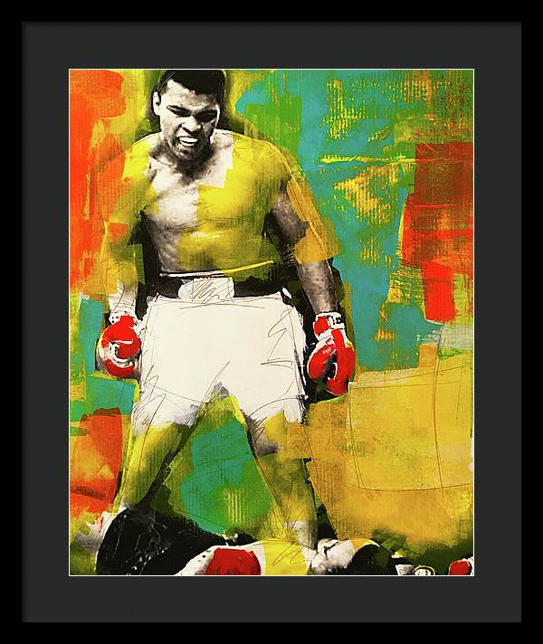 Ali The Greatest - Framed Print - artrockscharity | Equality Clothing Wear Your Voice | Art Beat Live