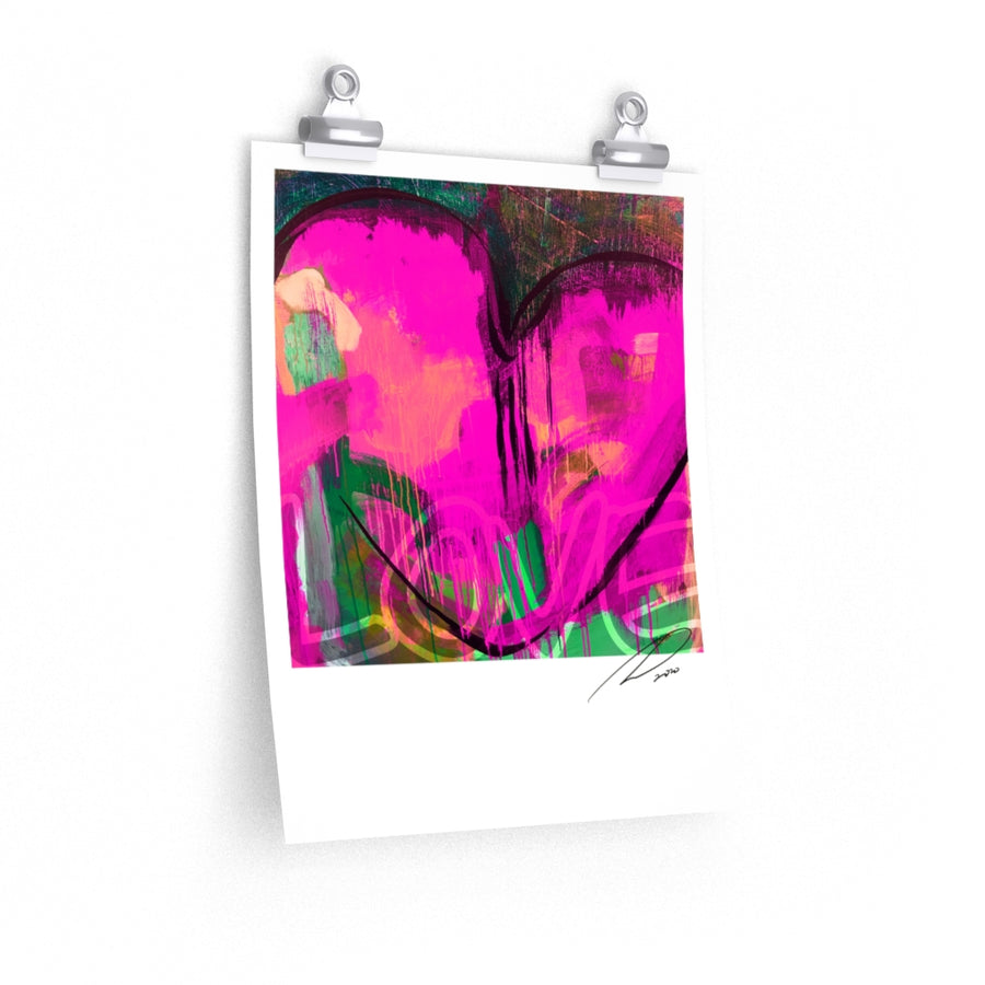 Magenta Heart Poster 11x14 - artrockscharity | Equality Clothing Wear Your Voice | Art Beat Live