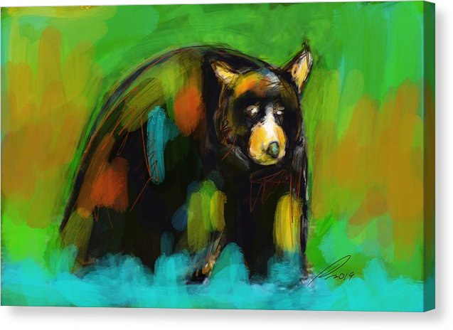 Bear Up North - Canvas Print - artrockscharity | Equality Clothing Wear Your Voice | Art Beat Live
