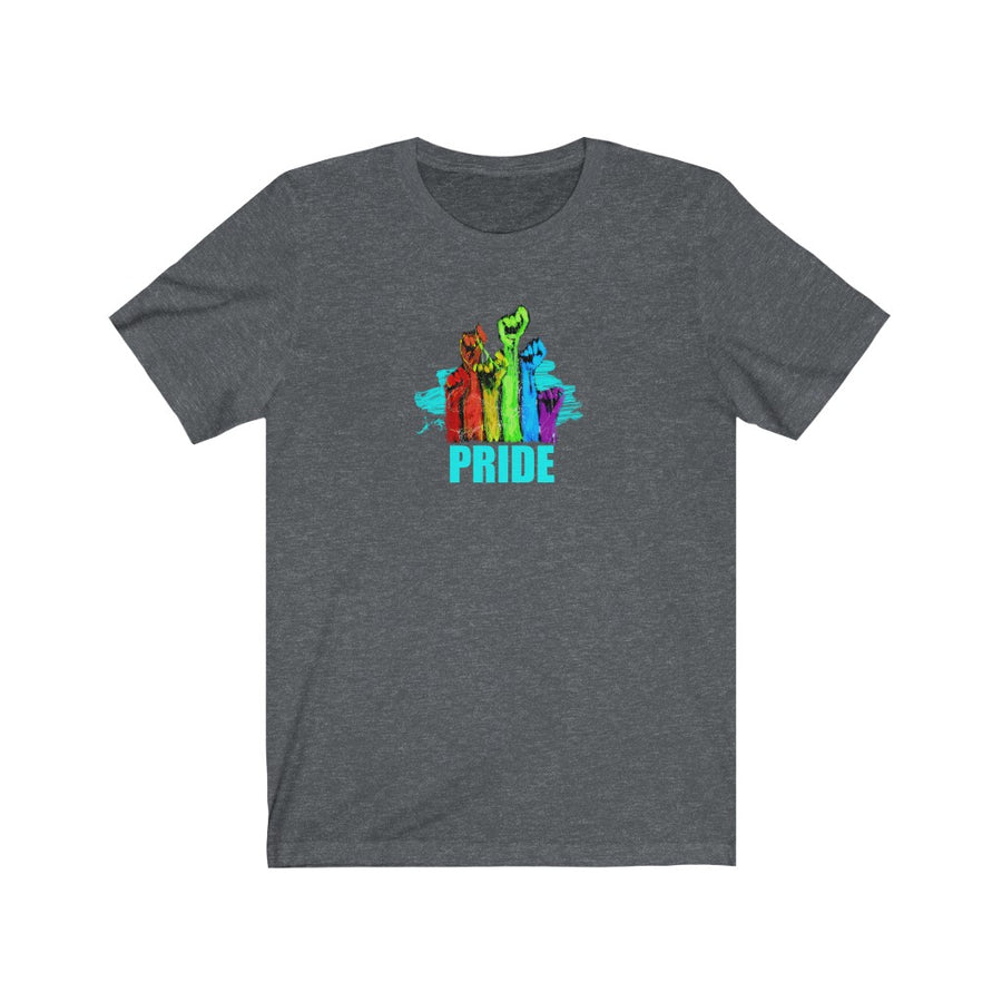 PRIDE | Unisex Jersey Short Sleeve Crew Neck Tee - artrockscharity | Equality Clothing Wear Your Voice | Art Beat Live