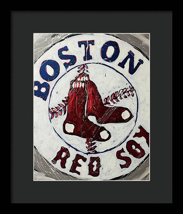 Boston Red Sox - Framed Print - artrockscharity | Equality Clothing Wear Your Voice | Art Beat Live
