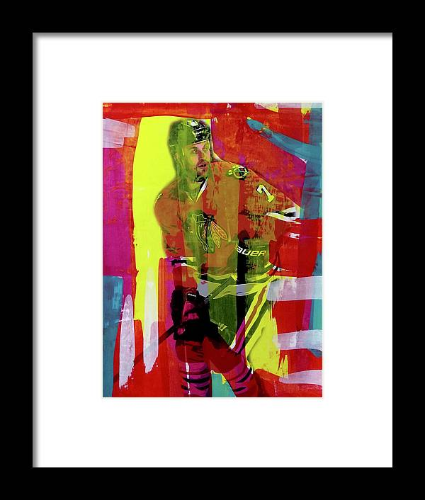 Brent Seabrook - Framed Print - artrockscharity | Equality Clothing Wear Your Voice | Art Beat Live